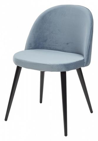 Стул JAZZ пудровый синий, велюр G108-56 М-City (обеденный, кухонный, для гостиной), Материал каркаса: Металл, Цвет каркаса: Чёрный, Материал сиденья: Велюр, Цвет сиденья: Пудровый синий, Цвет: Синий, Материал сиденья: Ткань