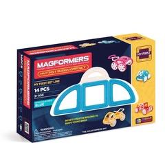 MAGFORMERS Магнитный конструктор Моя первая машинка, синий (63146)