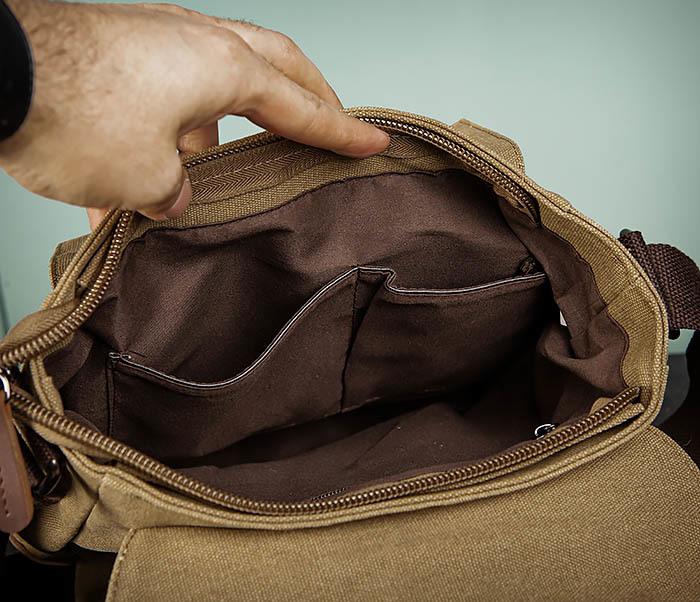 BAG503-2 Мужская сумка планшет из плотной ткани фото 13