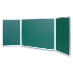 Доска магнитно-меловая трехсекционная Attache 100x300 см лаковое покрытие зеленая