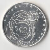 K12205 2001 Португалия 500 эскудо Порту - Культурная столица Европы AU/UNC Ag-500, 14 gr., D30 mm