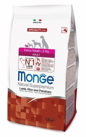 купить сухой корм Monge Speciality Li Extra Small Adult Lamb, Rice and Potatoes для взрослых собак миниатюрных пород с ягненком, рисом и картофелем
