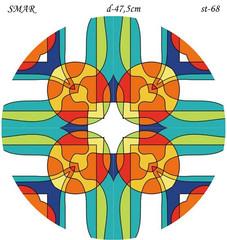 Эскиз для росписи, Круг диаметр-47,5см, SMAR-st-68