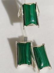 Рания (кольцо + серьги из серебра)