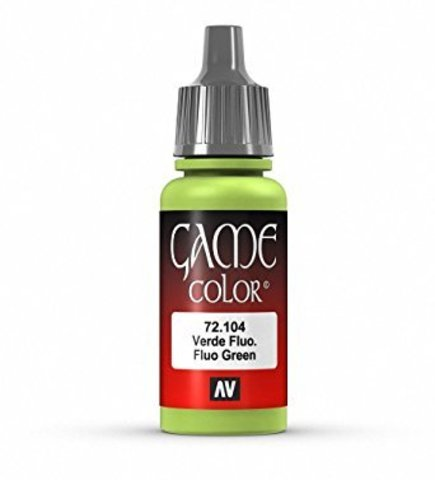 Game Color Fluo Green 17 ml.