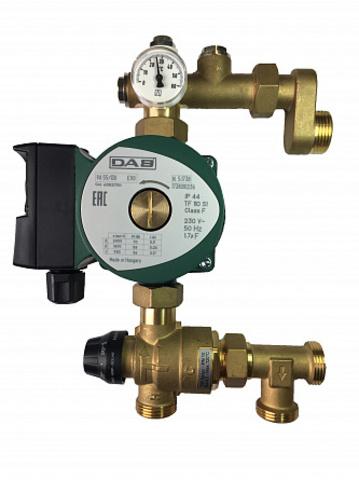 Насосно-смесительная группа с термосмесителем, с насосом VA 65/130 1/2 для напольного отопления. Соединение 1