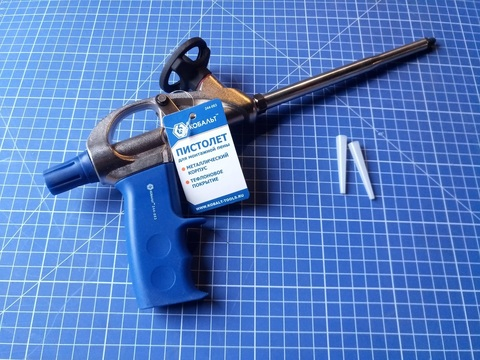 Пистолет для монтажной пены КОБАЛЬТ металлический корпус, тефлоновое покрытие (244-063)
