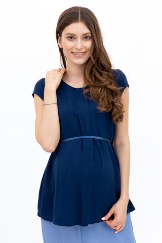Блузка для беременных 01397 светло-синий