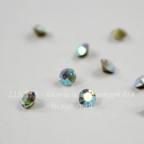 Стразы ювелирные (цвет - прозрачный c AB - покрытием) 2,2 мм, 10 шт