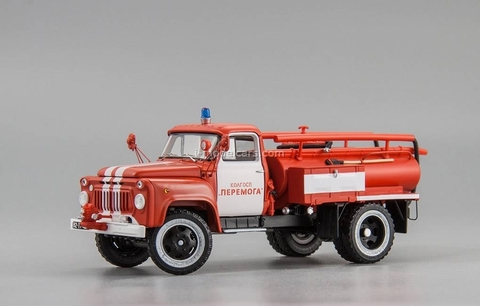 GAZ-52 ACU-10 fire engine 1978 collective farm Peremoga 1:43 DIP