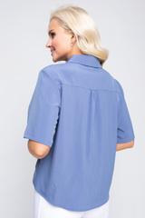 """<p><span>Модная рубашка в стиле """"смарт кэжуал"""" является одним из трендовых элементов вашего гардероба этой весной. Рубашка """"Лера"""" отлично сочетается с брюками,юбками разной длины, джинсами и шортами. В ней вы будете чувствовать себя женственно, модно и стильно. Рукав до локтя, ворот отложной с планкой на пуговицах. По переду декоративный элемент """"перевертыш"""". (Длины: 46-48=59см; 50=60см;52=62см)&nbsp;</span></p>"""