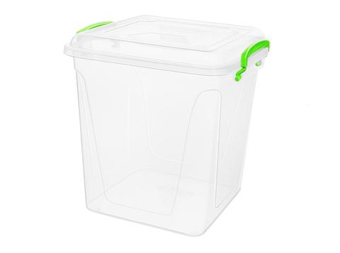 Контейнер для хранения Fresh Box 11 литров квадратный с крышкой прозрачный/салатовый Эльфпласт 28х27х25 см