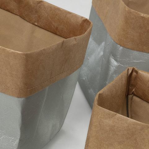 Комплект Kamura 3 корзины серебристый