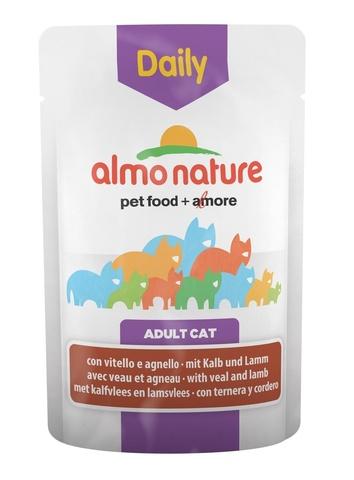 Паучи Almo Nature Daily Menu - Cat Veal and Lamb