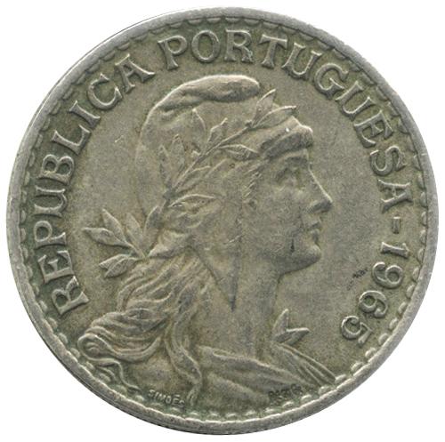 50 сентаво Португальская Республика (1911-1969) 1965 год, Португалия. aUNC