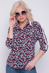 <p>Красивый блузон из ткани с контрастной отделкой подходит для любого случая жизни. Просто, модно, практично.</p>