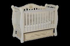 Кроватка детская  Julia 111 апликация универсальный маятник+ящик слоновая кость