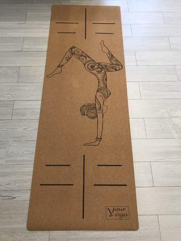 Пробковый коврик для йоги HandStand 178*61*0,3 см