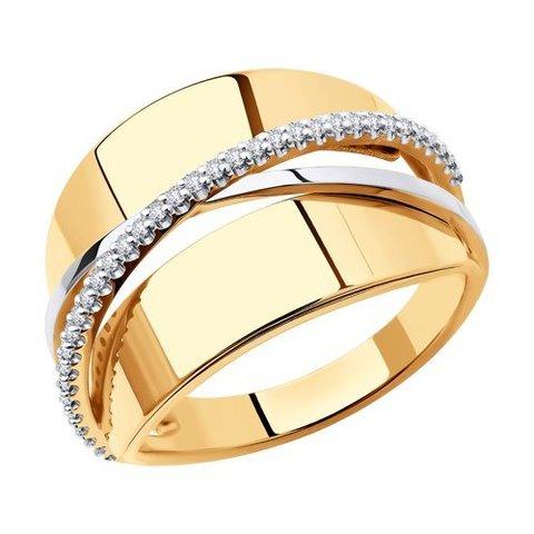 018775 - Кольцо из золота с фианитами