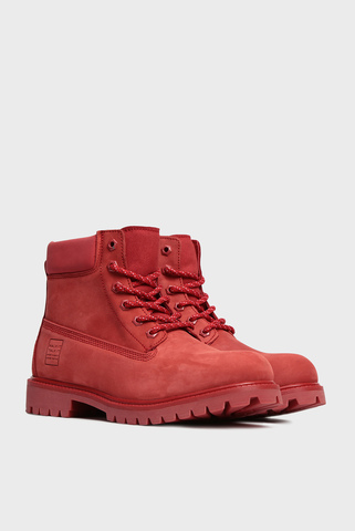 Женские красные кожаные ботинки Mary Anne Preppy