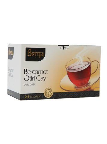 Çay \ Чай \ Tea Berqa Earl Grey qara çay 24 ədəd (paket)