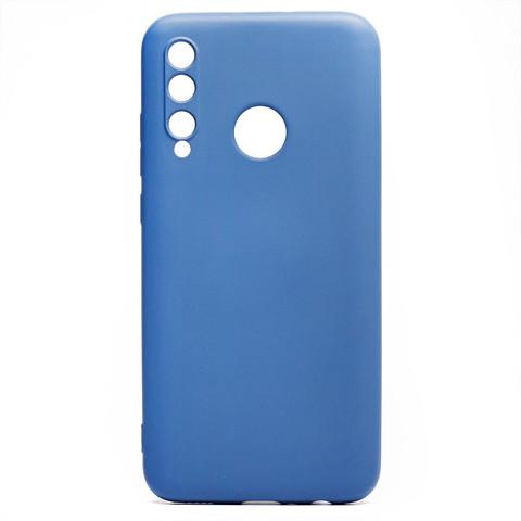 Чехол для Huawei Honor 10i/20 Lite Global/20e Софт Тач мягкий эффект с микрофиброй   синий