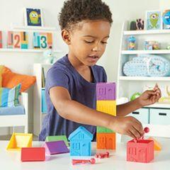 Игровой набор Моя семья, с домиками для сортировки Learning Resources, арт. LER3369