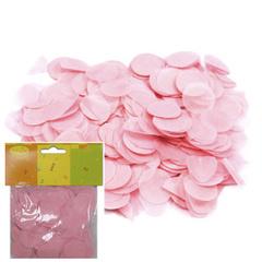 Y Конфетти бумажное Круги розовые 2,5см (14гр)