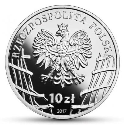 10 злотых. Витольд Пилецкий (2-я мировая война). Польша. 2017 год
