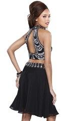 Комплект топ и юбка в черном цвете
