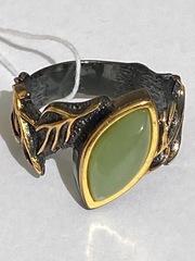Клайда- нефрит(кольцо  из серебра)