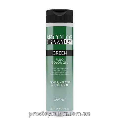 Be Color Crazy 12 Minute Fluo Color Gel Green - Барвник прямої дії Зелений