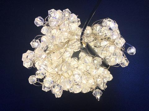 Штора-гірлянда на Мідному дроті Скло кулька 200 LED 2 на 2 м. тепло-біла