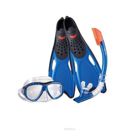 Набор маска,трубка,ласты WAVE MSF-1396S25BF71 силикон (р.40-41)