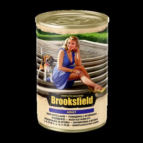 Brooksfield Adult Консервы для собак с говядиной и ягнёнком (Банка)