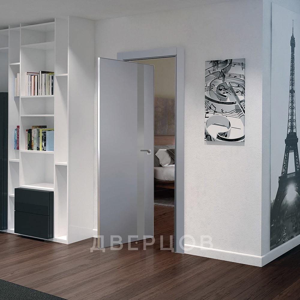 Системы открывания Рото дверь 6E манхеттен со стеклом серебро алюминиевая матовая кромка с 4-х сторон 6E-mankhetten-serebro-matlak-mat-khrom-dvertsov-min.jpg