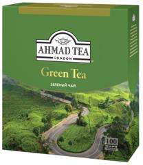 """Чай зеленый """"Ahmad"""" Green Tea в конвертах из фольги 100х2г"""