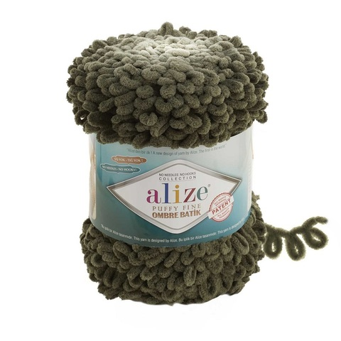 Пряжа Alize Puffy Fine Ombre Batik цвет 7299