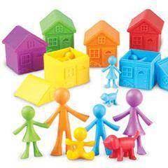 Игровой набор Моя семья, с домиками для сортировки (52 элемента) Learning Resources, арт. LER3369