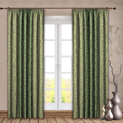Комплект штор Виллена зеленый