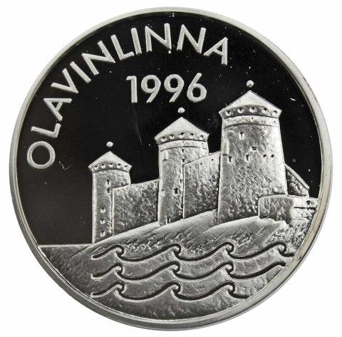 20 евро. Крепость Олавинлинн. Финляндия. 1996 год. Серебро. PROOF