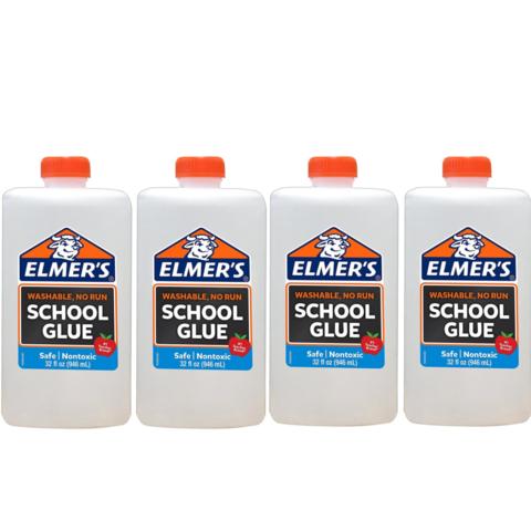 Клей для слайма Elmer's School Glue белый базовый 4 х 946 мл