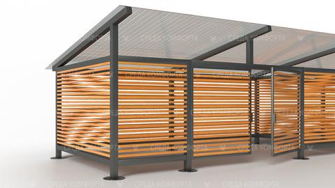Контейнерная площадка для ТБО 6000х3000х2500 мм NVS0081