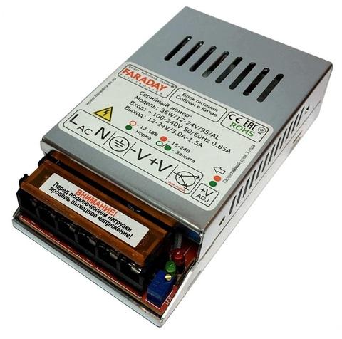 36W/12-24V/95AL блок питания Faraday