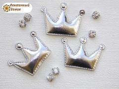 Мягкие короны средние серебряные № 1