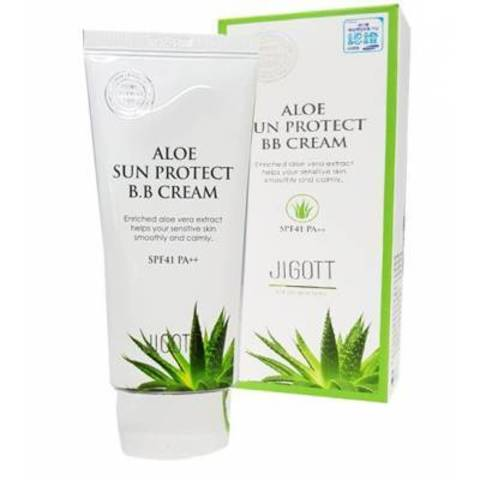 ББ крем с алоэ вера Jigott Aloe Sun Protect BB Cream SPF41 PA++ 50ml.