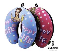 Подушка-подголовник Gekoko «Happy Wife», розовая 3