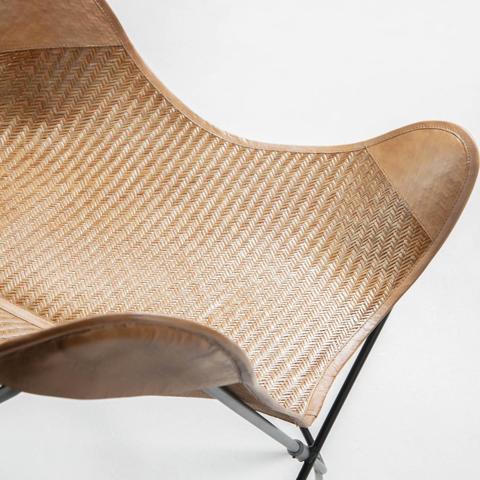Кресло-бабочка Flynn натуральный бежевый