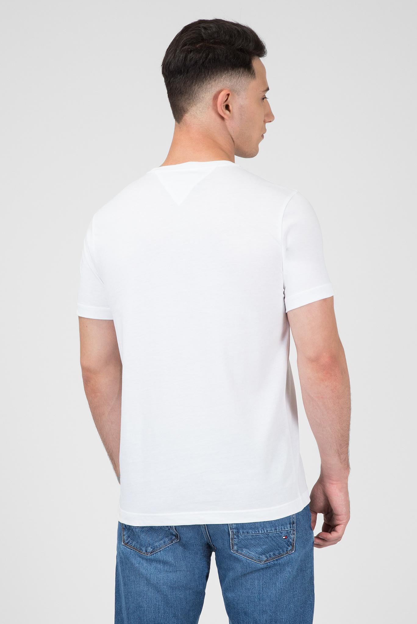 Мужская белая футболка с принтом Tommy Hilfiger