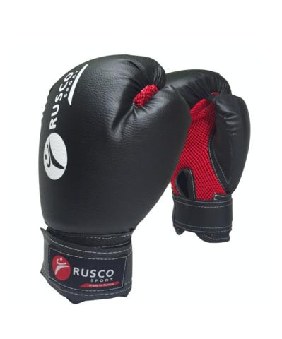 Перчатки боксерские, 8oz, к/з, черный
